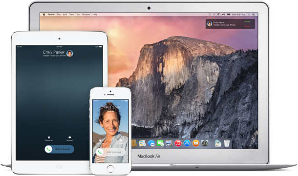 OS X Yosemite Mobile Integration