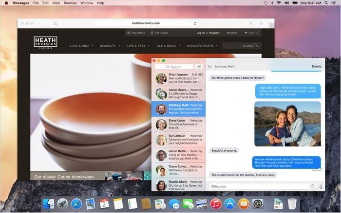 OS X Yosemite GUI